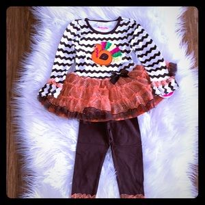 Colorful Turkey Tunic with Leggings